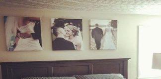 cách treo ảnh cưới