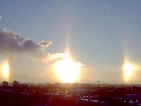 Ba mặt trời xuất hiện cùng lúc