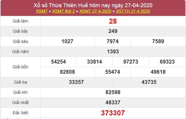 Soi cầu XSTTH 4/5/2020 - KQXS Thừa Thiên Huế thứ 2