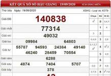 Tổng hợp soi cầu KQXSHG ngày 26/09/2020 chốt số đẹp hậu giang