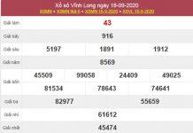 Soi cầu XSVL 25/9/2020 chốt lô VIP Vĩnh Long thứ 6