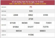 Soi cầu XSQNM 20/10/2020 chốt lô số đẹp Quảng Nam thứ 3