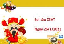Soi cầu XSVT 26/1/2021