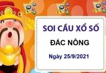 Soi cầu KQXSDNO ngày 25/9/2021