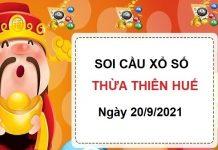 Soi cầu xổ số Thừa Thiên Huế ngày 20/9/2021
