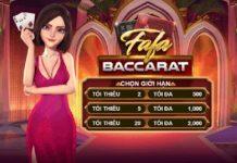 Quy tắc chung khi chơi game bài casino trực tuyến Fafa Baccarat