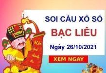Soi cầu KQXSBL ngày 26/10/2021